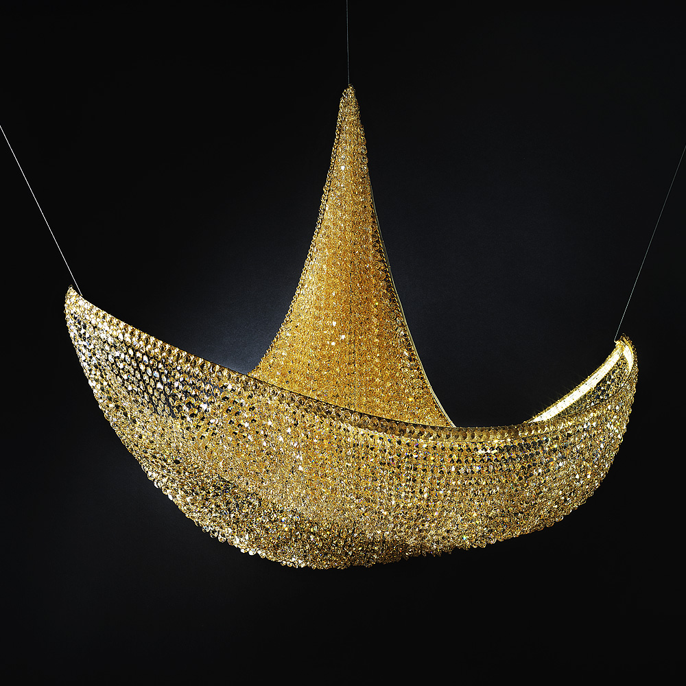 Arany kristály csillár